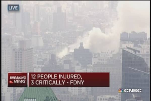 3 critically injured in building collapse in NYC