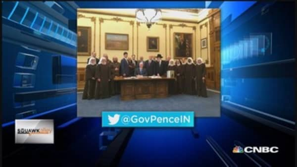 Indiana's religious freedom law under fire