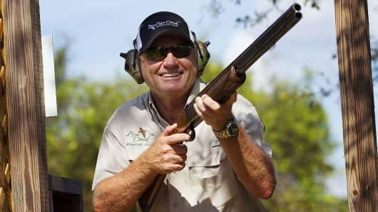 Golf Legend Nick Price is a member of the Pine Creek Gun Club in Okeechobee, Fla.