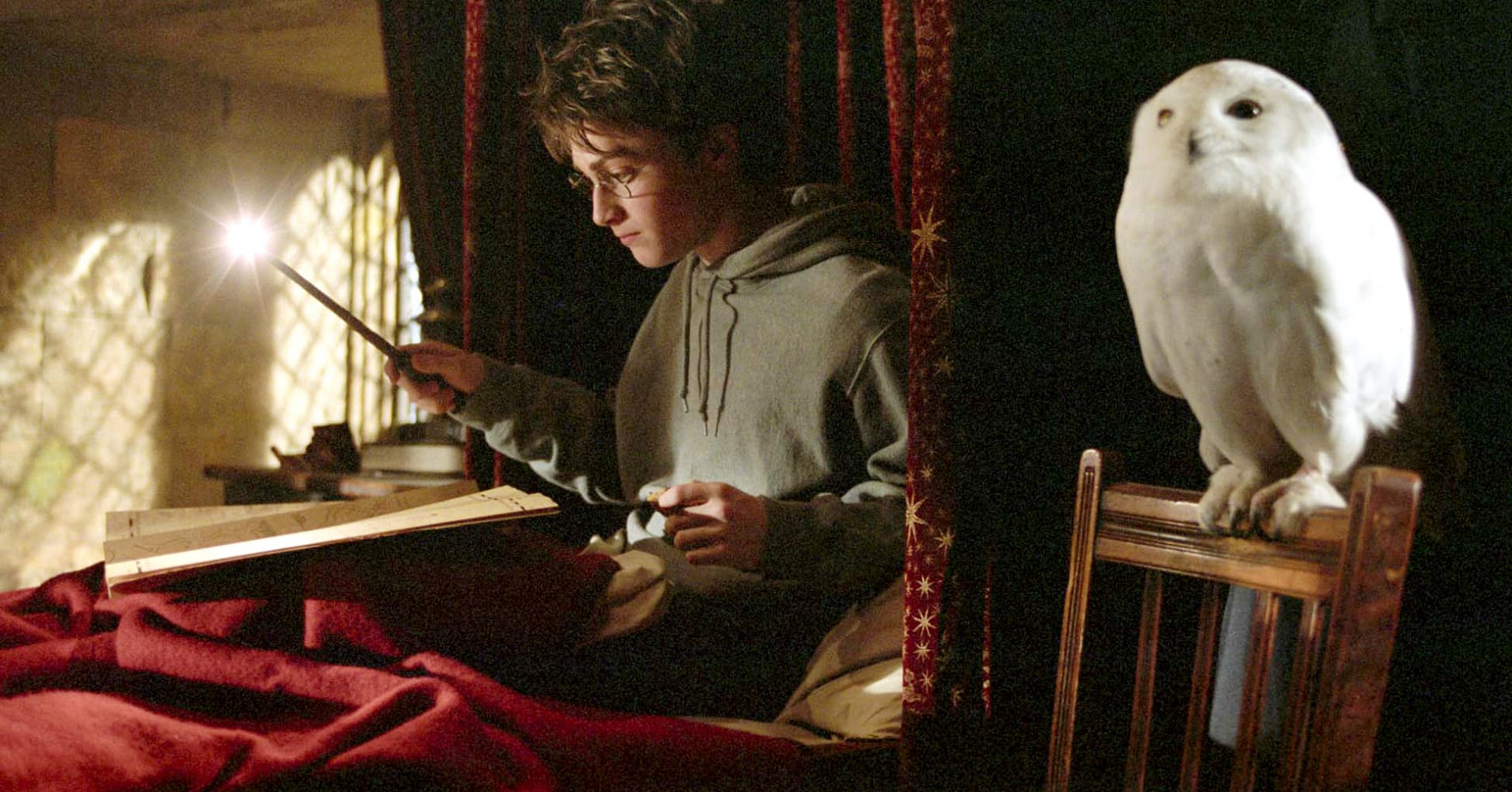 "Daniel Radcliffe as Harry Potter in the film ""Harry Potter and the Prisoner of Azkaban."""