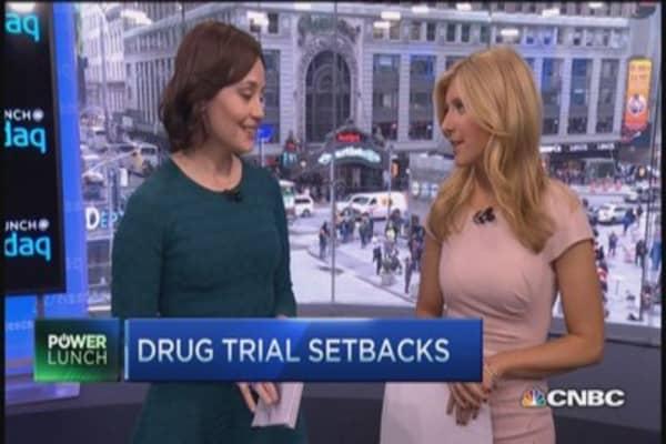 Drug trial setbacks