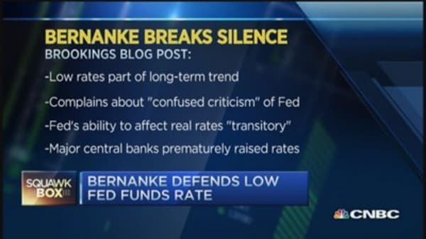 Bernanke: Low rates part of long-term trend