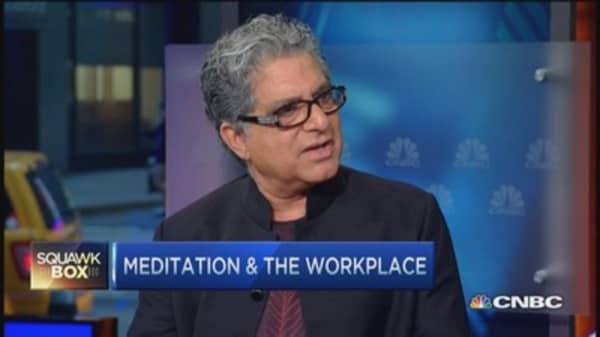 Deepak Chopra's morning routine