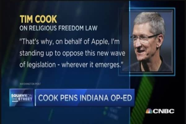 Cook: Deeply disappointed in Indiana's new law