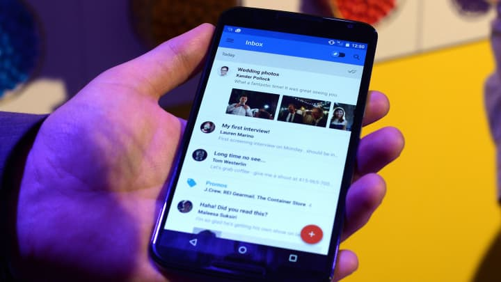 Inbox by Gmail on a mobile phone