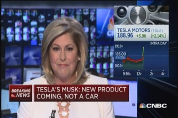 Tesla's Musk: New product coming, not a car