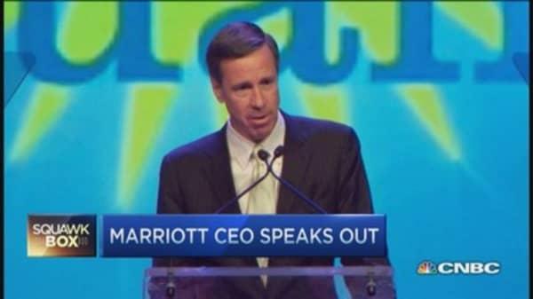Marriott CEO speaks out against RFRA