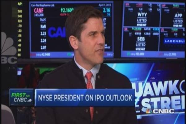 IPO pipeline extensive: NYSE's president