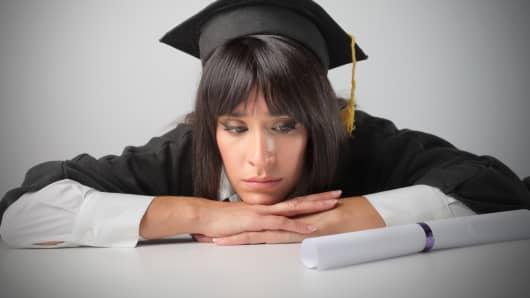 Graduate depressed sad