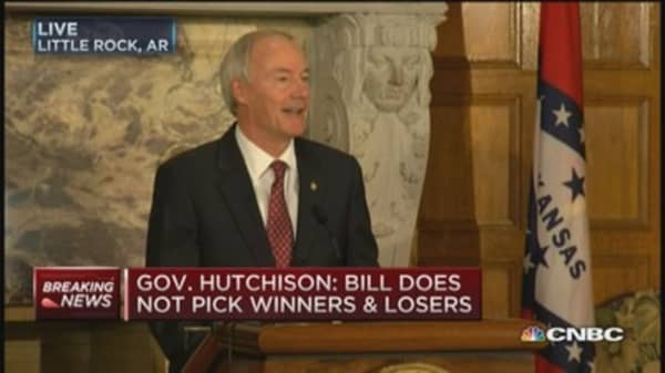 Gov. Hutchinson: Sending bill back for changes