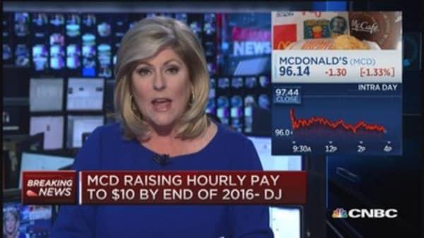 McDonalds raising pay to $10: DJ
