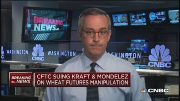 CFTC sues Kraft & Mondelez on wheat futures manipulation
