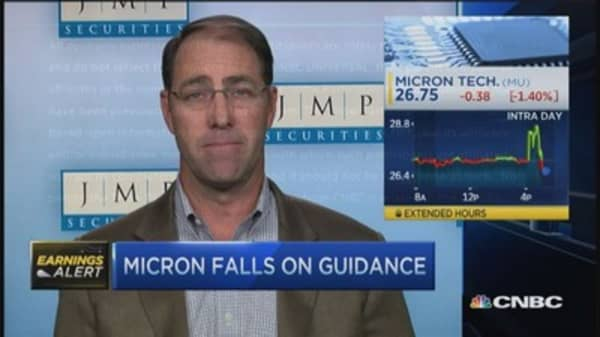 Micron beats, stock pops
