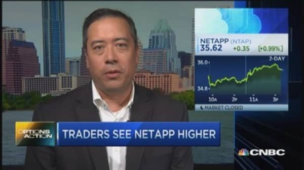 Options Action: NetApp to rally? Bull think so