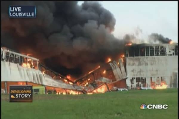 Four-alarm fire burns at GE Appliance Park