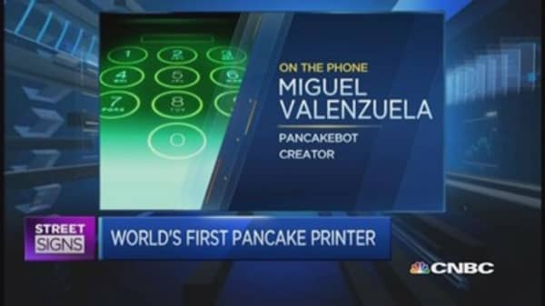 Hear about the world's first pancake printer
