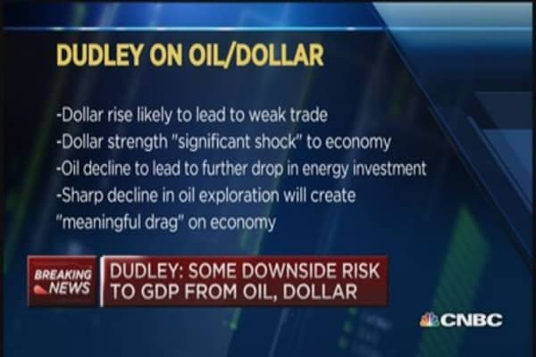 Fed's Dudley: Dollar, oil present downside GDP risk