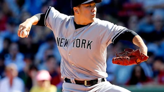Masahiro Tanaka of the New York Yankees
