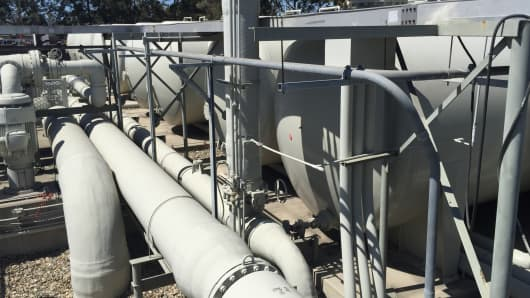 A mothballed Santa Barbara desalination plant the city hopes to restart in 2017.