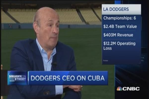 Dodgers' CEO: Getting his $270 million team on TV