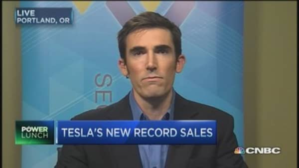 Tesla stock gets a boost