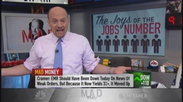 Weak jobs report terrific for market?