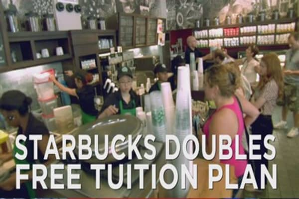 Starbucks employees get full tuition