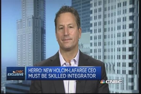 Major Holcim shareholder talks merger