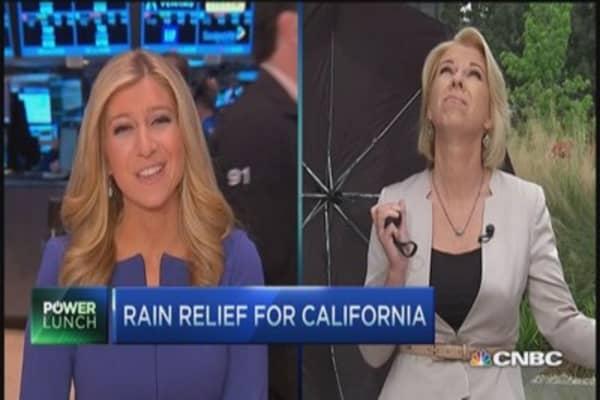 Rain to California's rescue