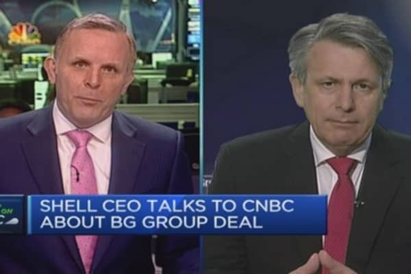 We've been looking at BG for years: Shell CEO