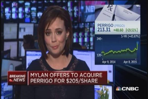 Mylan offers to acquire Perrigo