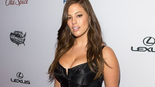 Model Ashley Graham attends the 2015 Sports Illustrated Swimsuit Issue celebration at Marquee on February 10, 2015, in New York City.