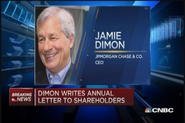 JPM's Dimon: Legal & regulatory costs hurting company