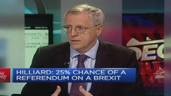 Hilliard: 25% chance of a 'Brexit' referendum