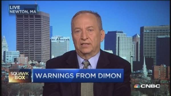 Larry Summers on Dimon's liquidity concerns
