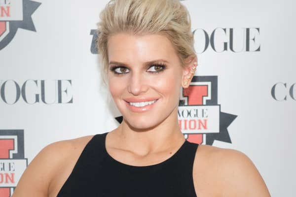 Jessica Simpson attends Teen Vogue's 10th Annual Fashion University at Conde Nast on March 14, 2015 in New York City.