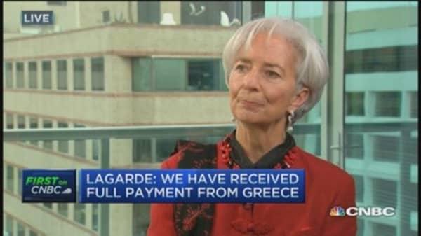 Greece repays IMF