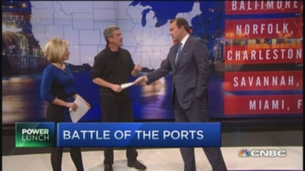 Port problems: West vs. east