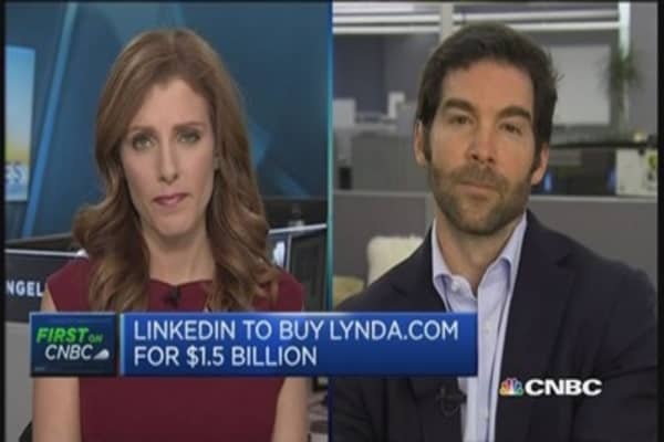LinkedIn CEO: Lynda.com is a 'great fit'