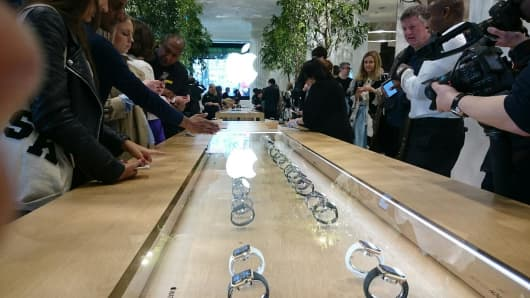 The Apple Watch launch at Selfridges, London