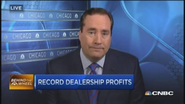 Record car dealership profits