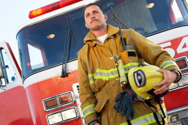 Firefighter fire man