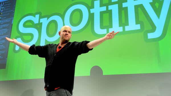 Daniel Ek, chief executive officer of Spotify