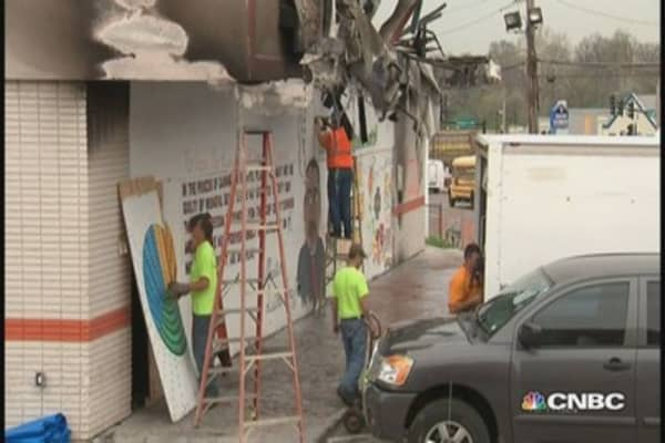 Ferguson, Missouri works to rebuild