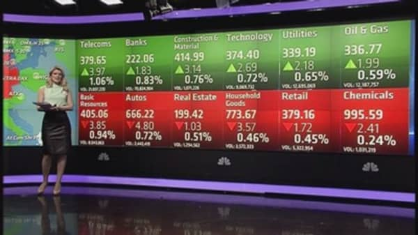 Europe ends mixed after rally; miners fall