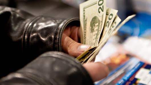Retail sales cash dollar