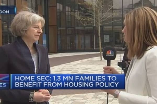 Theresa May defends right-to-buy scheme