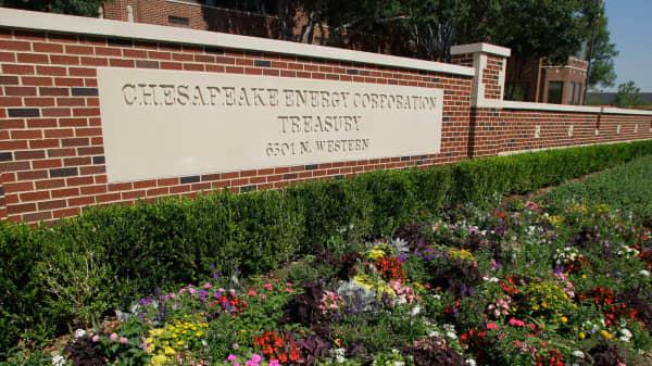 A file photo of Chesapeake Energy headquarters in Oklahoma City.