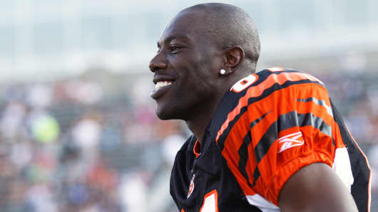 Terrell Owens of the Cincinnati Bengals in 2010