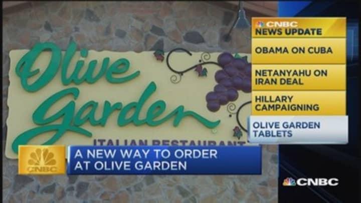 CNBC update: Olive Garden tablets